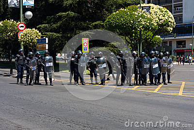 Riot policemen Editorial Stock Image