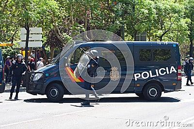 Riot policemen Editorial Photography