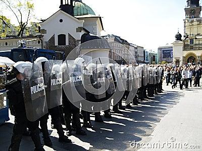 Riot Polish Police