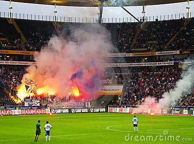 Rioting Ultras  Editorial Stock Image