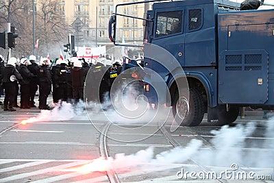 Riots Editorial Stock Photo