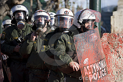 Riots in athens 18_12_08 Editorial Stock Photo