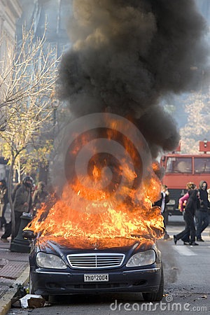 Riots in  athens 18_12_08 Editorial Image