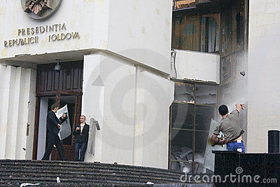 Riots in Moldova Editorial Stock Photo