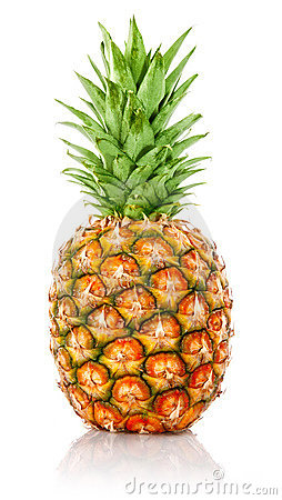 Free Ripe Ananas Fruit With Green Leaves Stock Images - 13229784