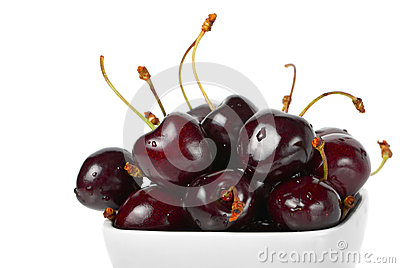 Ripe cherries.