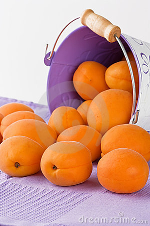 Ripe fresh apricot