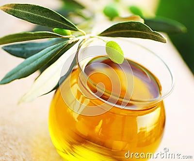 Ripe fresh green olives