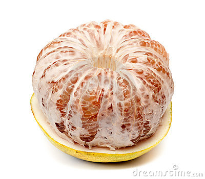 Ripe fruit pomelo half purified