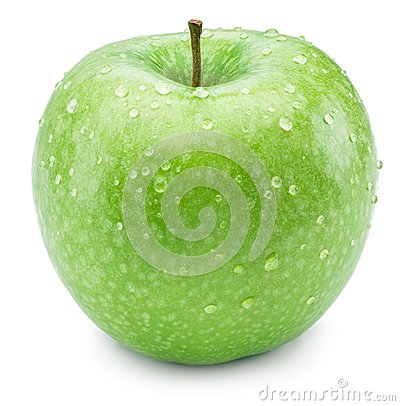 Free Ripe Green Apple With Water Drops On It. Stock Image - 100261371