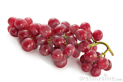 Ripe juicy red grapes