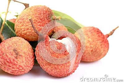 Ripe litchi fruit
