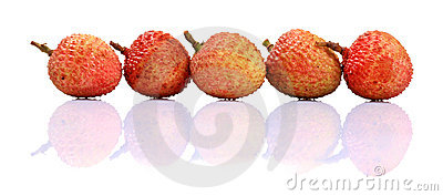 Ripe litchi fruit