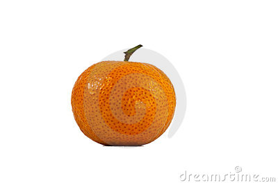 A ripe orange on a white illustration
