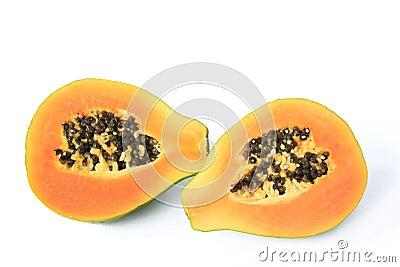 Ripe papaya fruit
