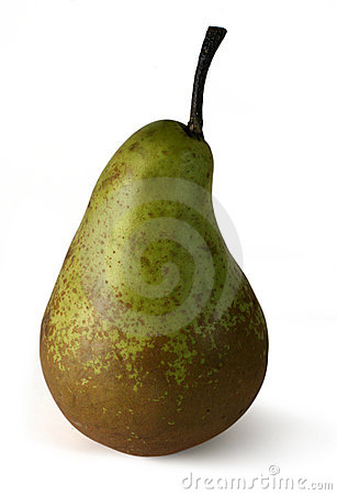 Ripe pear with path
