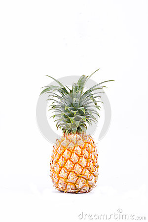 Free Ripe  Pineapple Ananas Comosus On White Background Healthy Pineapple Fruit Food Isolated Stock Image - 89291591