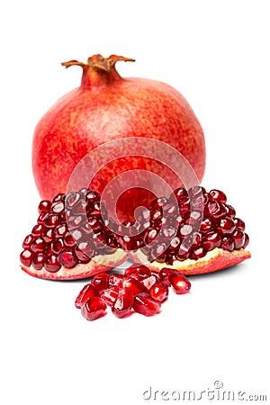 Free Ripe Pomegranate Fruit Isolated Royalty Free Stock Image - 35005676