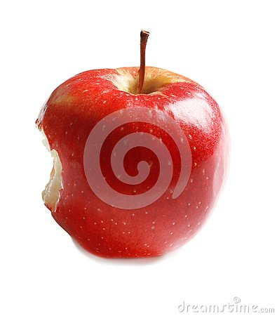 Free Ripe Red Apple With Bite Mark Stock Image - 112728961