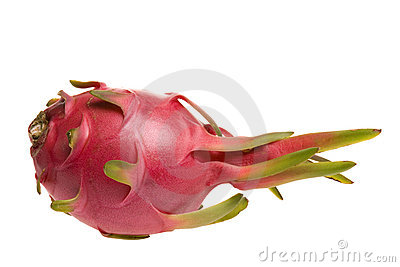 Ripe red pitaya fruit