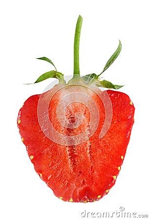 Ripe strawberry.