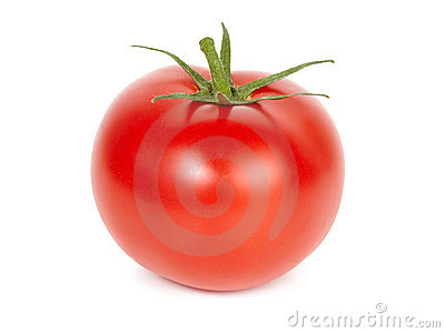 Ripe tomato.