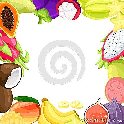 Free Ripe Tropical Fruits And Slices Realistic Set With Isolated Images Of Mango Pitaya Papaya Coconut And Passionfruit  Illustra Stock Photo - 104075930