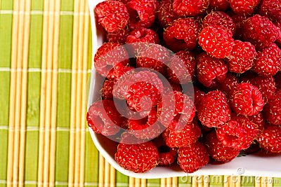 Ripe wild raspberries