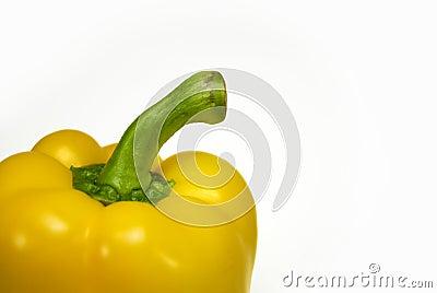 Ripe yellow pepper