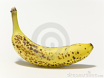 Ripen banana yellow fruit isolated