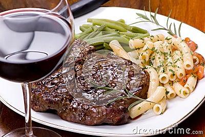 Rippe-Augen-Steak-Abendessen 5