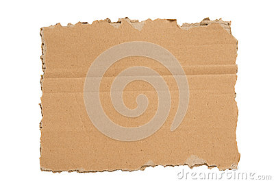 A Ripped Blank Piece of Cardboard XXXL Isolated