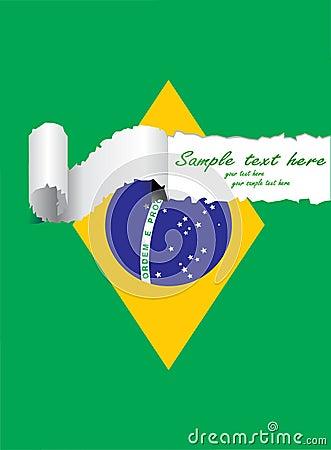 Ripped brazil flag