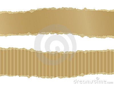 Ripped Cardboard Banners Royalty Free Stock Photos - Image: 12742608