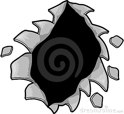 Ripped Hole Vector