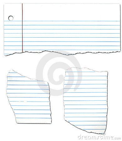 Ripped Looseleaf Paper Collection