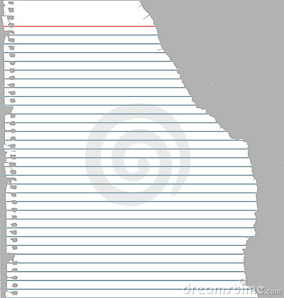 ripped notebook paper stock photos image 5761773