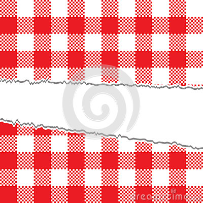 Ripped retro tablecloth texture