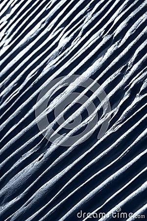 Ripple marks on sand
