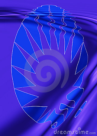 Rippled Blue Design
