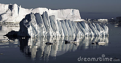 Rippled ice floe