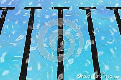 Rippled pool