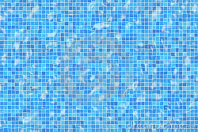 Rippled pool tiles