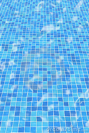Free Rippled Pool Tiles Royalty Free Stock Image - 245766