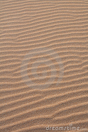 Rippled sands in the beach