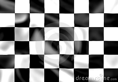 Rippled silk chequered race flag