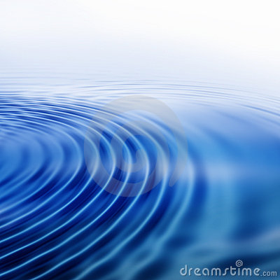 Ripples on blue water