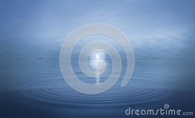 Ripples in Calm Sea Water