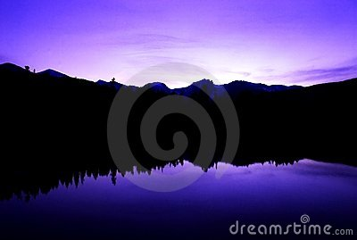 Ripples of peace in purple