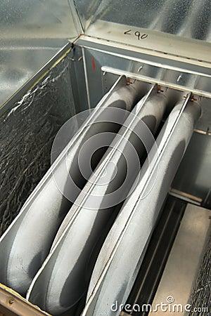 Riscaldamento della fornace, primo piano dell unità dello scambiatore di calore